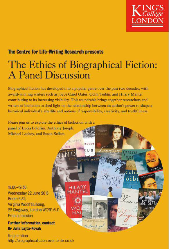 The Ethics of Biographical Fiction: A Panel Discussion